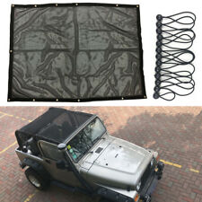 Full Mesh Sun Shade Soft Top Cover UV Protection For Jeep Wrangler TJ 1997-2006
