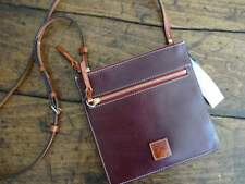 DOONEY & BOURKE BORDEAUX Burgundy FLORENTINE LEATHER Double Zip CROSSBODY