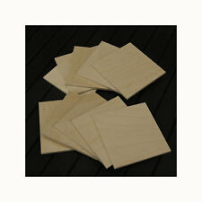 PYROGRAPHY WOODBURNING 10 BIRCH PLYWOOD SQUARE COASTERS 75mm