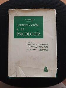 Ernest Hilgard Introduccion A La Psicologia HC #1679