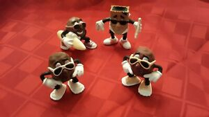California Raisins Kid's Meal Toys - 4 Plastic Figures (1987-1989)