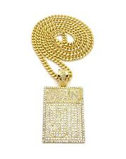 "NEW ICED OUT YRN 91 PIECE WITH 30"" BOX LOCK MIAMI CUBAN CHAIN."