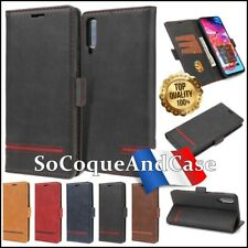 Etui coque Housse Cuir PU Leather Business Style Case Samsung Galaxy A50, A70