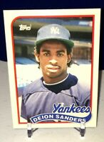 💥1989 Topps Traded Deion Sanders ROOKIE RC #110T YANKEES ⚾️📈🔥