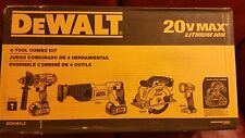 DeWalt 4 Tool Combo Kit DCK491L2 20V Max Lithium Ion New Drill Circular Saw