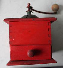 Moulin à café broyeur acier trempé bois rouge collection made in France