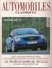 AUTOMOBILES CLASSIQUES 91 AUDI TT JAGUAR XKR & PORSCHE 996 CAB CHRYSLER AIRFLOW