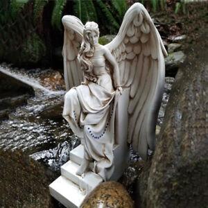 Harz Engel Skulptur Garten Dekorative Ornament Figur Statue Bürohof
