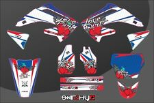 KIT ADESIVI GRAFICHE LOVE DIRT AMERICAN  EASY HONDA CRF 450 2002 2003 2004