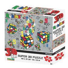 Brainiac Rubik's Super 3D Puzzles 150 & 500 Pieces