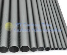 19mm x 15mm x 500mm  3K Roll Wrapped Carbon Fiber Tube, Quadcopter arm Pipe DIY