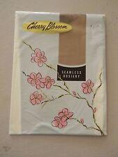 Cherry Blossom Seamless Stockings/Nylons- Beige- Size 10M - 1 pair-