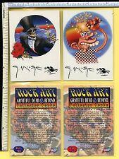GRATEFUL DEAD / STANLEY MOUSE 1998 Promo Trading Card Set; Killer Quality & Mint