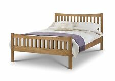 Julian Bowen Bergamo Solid White American Oak Bed 150cm King Size 5FT Wood