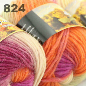 SALE LOT of 3 Skeins x 50g NEW Chunky Colorful Hand Knitting Scores Wool Yarn 24