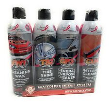 New RGS LABS Fastwax  Waterless Detail System 4 CANS, Cleaning Wax Tire General