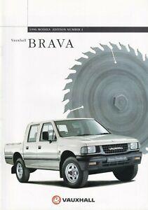 Vauxhall Brava Pick-up 2.5TD Brochure 1996 Includes 4x2 4x4 & 4x4 Double Cab