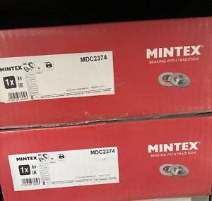 Rear Brake Discs x2 260mm Fits RENAULT Megane Mk3 III Mintex MDC2374