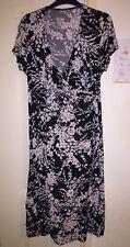 BHS Black & White Boho Dress, Size 16, Super Slimming!