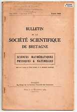 BRETAGNE J. SALMON CONTRIBUTION A LA BIOLOGIE DES EAUX SAUMATRES 1959 BINIC L'IC