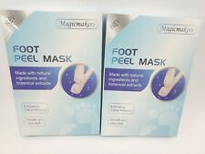 4 Pair Magicmakers Foot Peel Mask Exfoliating Callus Remover Smooth Ultra Soft