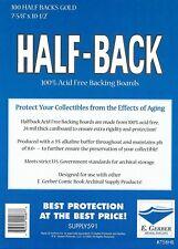 More details for 100 half back gold size comic backer boards (e. gerber)