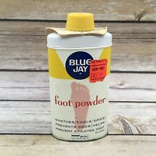 Vintage Blue Jay Foot Powder Advertising Tin with Kents 2.5 OZ