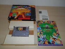 Earthbound Complete SNES Game Super Nintendo CIB Rare Earth Bound w/ Cards