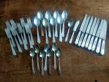 1847 ROGERS BROS Ancestral Pattern Silver Plate Flatware~33 Pieces