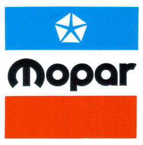 """Mopar 3"""" square sticker / decal Dodge Chrysler Plymouth Jeep Imperial DD0098"""