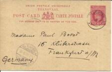 Transvaal Postal Card HG:12 SPELONKEN 8/JAN/03 to Germany via Pietersburg