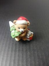 Vintage Homco Porcelain Bear Figurine - #5254 - Christmas Bear with Tree
