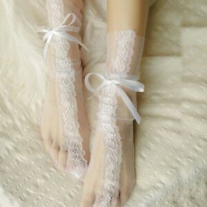 Breathable Floral Girl Sexy For Women Bow Socks Lace Socks Hosiery Mesh