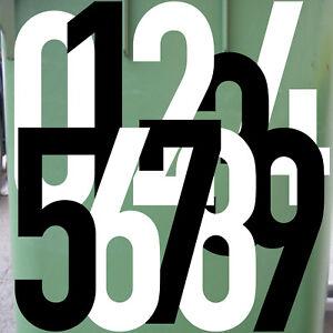 30cm DIN1451 Wunsch Wahl Nr Aufkleber Tattoo Ziffer Zahl Praxis Haus Tür Nummer