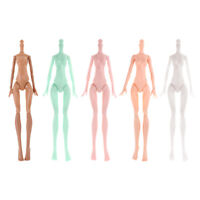 Moveable Ball Jointed Nude Female Body for Monster High Dolls Custom 5 Piece