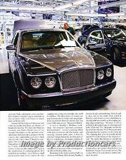 2008 Bentley Crewe Factory Arnage Original Car Review Print Article J710