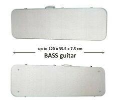 Silver Electric Bass Guitar Flight Hard case 4 5 6 string lockable carry retro