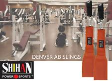 DENVER ORANGE AB Slings Abdominal Strap Crunch Weight Lifting Door Hanging Gym