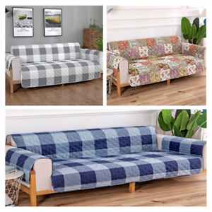 Quilted Sofa Slip Cover Waterproof Pet  Protector 100% Microfiber 1/2/3 Seater