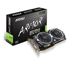 MSI Nvidia GTX 1070 Armor OC 8GB Graphics Card