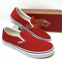 VANS Classic Slip On Racing Red Canvas Men's  Sneakers VN0A4BV3JV6