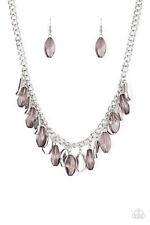"""""""Fringe Fabulous"""" Silver Necklace Set By Paparazzi"""