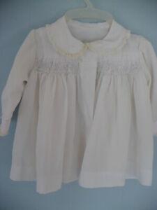 VINTAGE BABY GIRLS WHITE COAT  #15