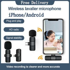 Wireless Lavalier Microphone Audio Video Recording Mini Mic For iPhone/Android !