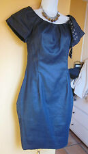 Anthropologie Eva Franco Womens Dress Denim Blue Sheath Fitted Size Small Fits 4