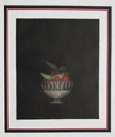 Mezzotint Master TOMOE YOKOI Original PENCIL SIGNED Limited Edition STRAWBERRIES