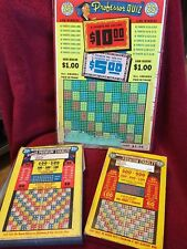 VINTAGE SET OF 5 KNOWLEDGE QUESTION & ANSWER GAMES BOARDS GAMBLING
