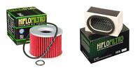 HIFLO FILTRO Oil and Air Filter Kit for KAWASAKI ZR550 B2-B8 Zephyr 91-00