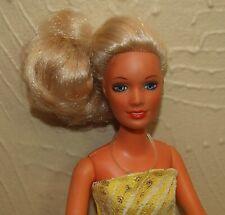 Vintage 1970's Kenner DARCI Cover Girl Model Doll w/ Yellow Gown & SHOES