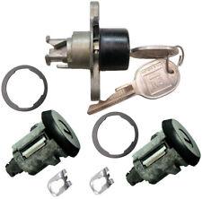 New CHEVY PONTIAC GM OEM Black Doors/Trunk Lock Key Cylinder Set With 2 Keys